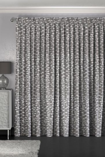 Coraline Mouse Grey Made To Measure Curtains