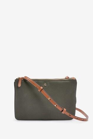 Lauren Ralph Lauren® Olive Nylon Carter Cross Body Bag
