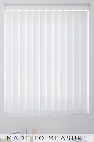 White Canvas Made To Measure Vertical Blind