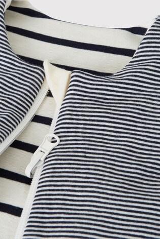 Petit Bateau Navy Stripe Iconic Rib Reversible Sleeping Bag