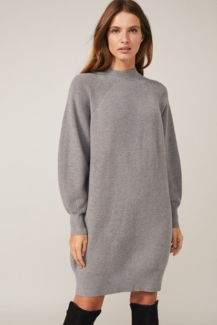 Phase Eight Grey Eliana Knitted Jumper Dress