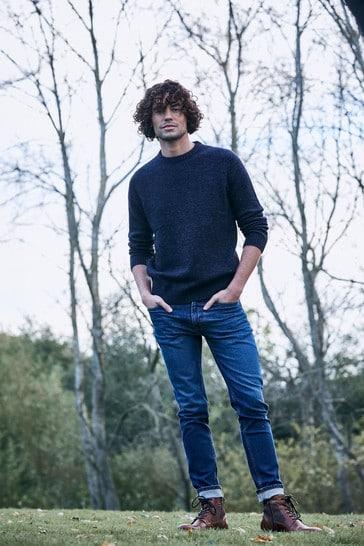 FatFace Blue Lean Mid Wash Jeans