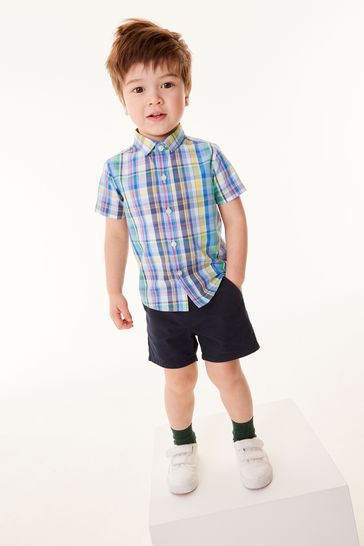 Navy Blue Chino Shorts (3mths-7yrs)