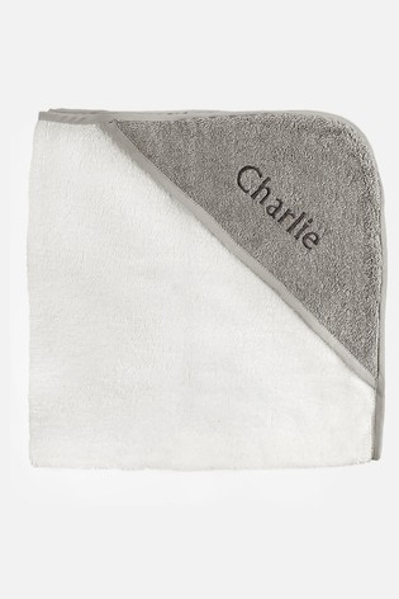 Babyblooms Personalised Luxury Hooded Towel New Baby Gift
