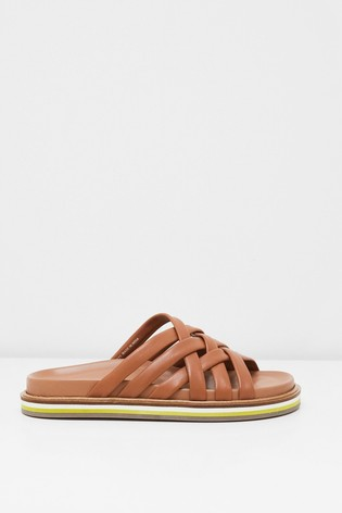 White Stuff Craft Leather Footbed Sandals