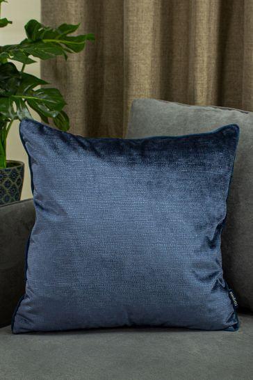 Riva Home Navy Stella Snakeskin Cushion