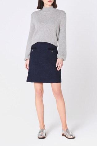 L.K.Bennett Blue Mercer Tweed Mini Skirt