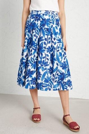 Seasalt Petite Blue Sea Mist Skirt