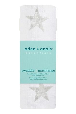 aden + anais Essentials Grey Muslin Swaddle Blanket