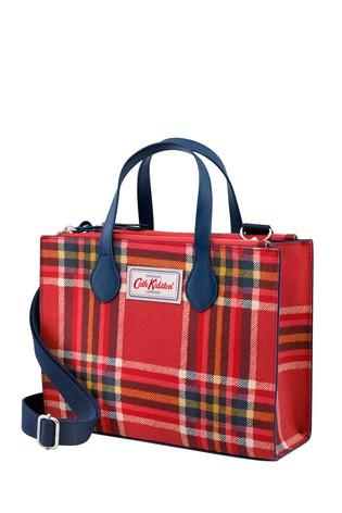 Cath Kidston Red Grab Clarendon Check Cross Body Bag