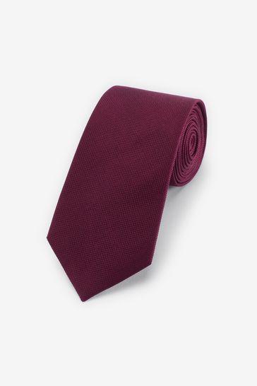 Burgundy Regular Silk Tie