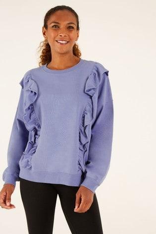 F&F Blue Frill Detail Sweater