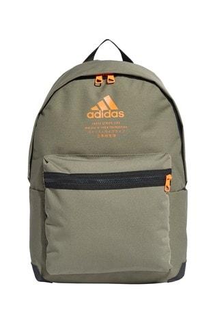 adidas Khaki Central Logo Backpack