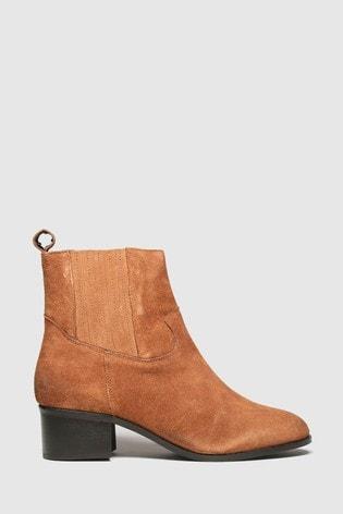 Schuh Tan Cheryl Suede Block Heel Boots
