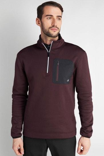 Calvin Klein Golf Purple Pinnacle Half Zip Top