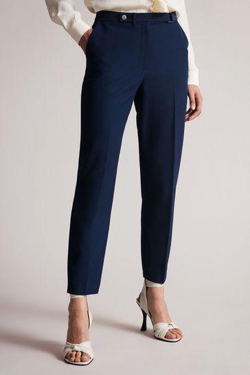 Ted Baker Blue Rraet Slim Tailored Trousers