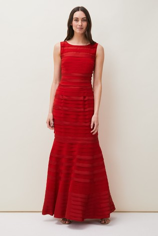 Phase Eight Red Shannon Layered Dress