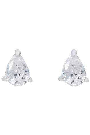 Accessorize Pink Pear Cut Solitaire Earrings