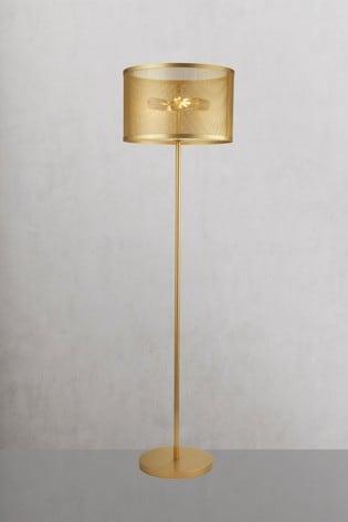 Searchlight Metal Chantilly 2 Light Floor Lamp