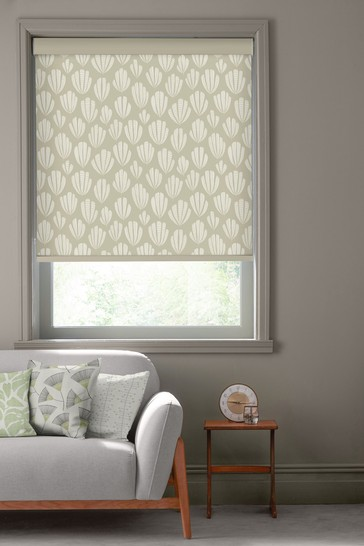 Hoja Pebble Natural Made To Measure Roller Blind by MissPrint