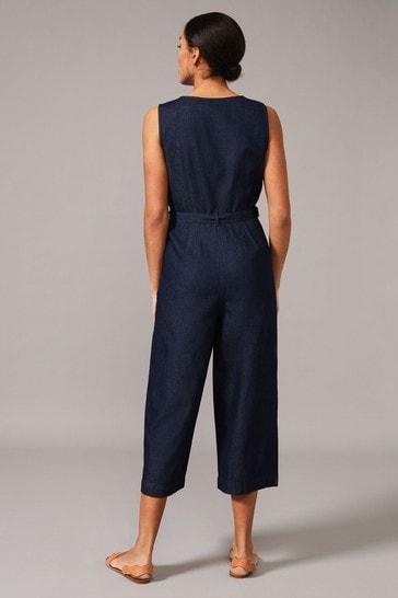 Phase Eight Blue Arthura Denim Look Jumpsuit