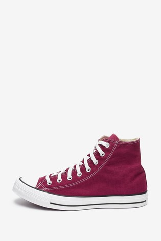 Converse Burgundy All Star High Top Trainers
