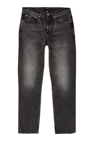 River Island Black Straight Jeans