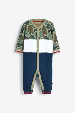 Camouflage 2 Pack Sporty Colourblock Sleepsuits (0mths-2yrs)