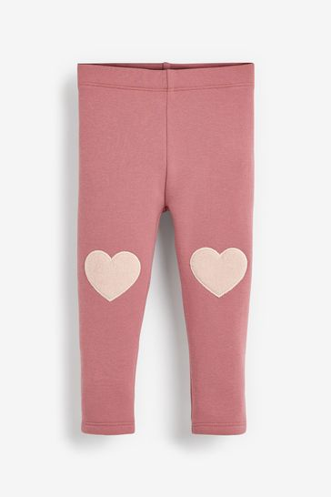 Pale Pink Heart Cosy Leggings (3mths-7yrs)