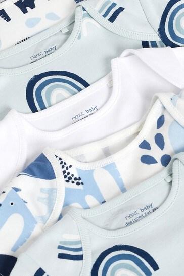 Blue Elephant 5 Pack Short Sleeve Bodysuits (0mths-3yrs)