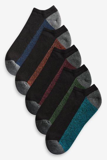 Dark 5 Pack Cushioned Trainer Socks