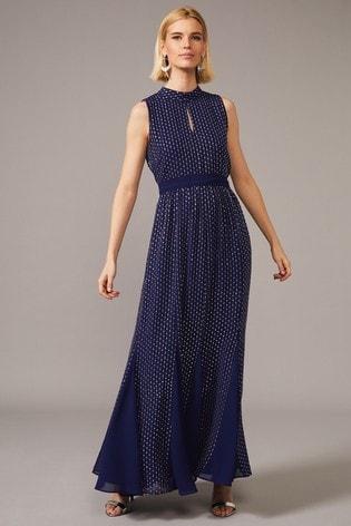 Phase Eight Blue Pippa Embellished Blouson Dress
