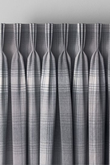 Cosy Check Grey Made To Measure Curtains