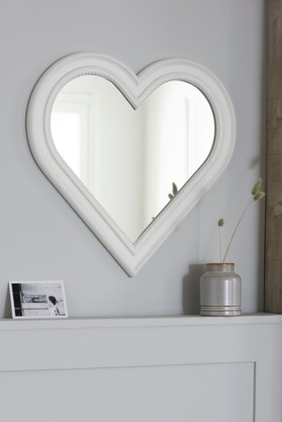Beaded Heart Mirror