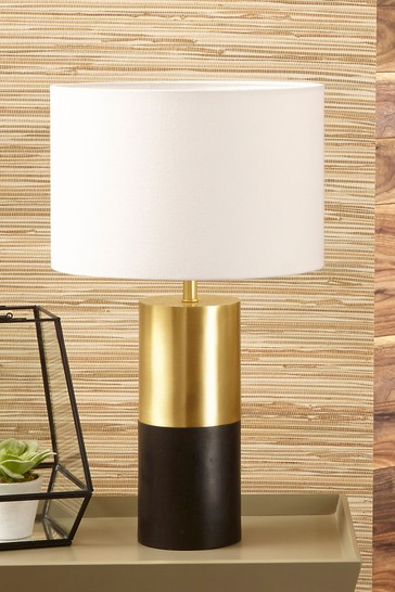 Etosha Wood And Gold Metal Table Lamp by Pacific