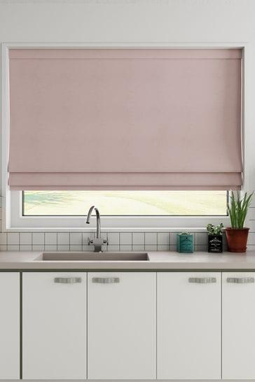 Cotton Blush Made to Measure Roman Blind