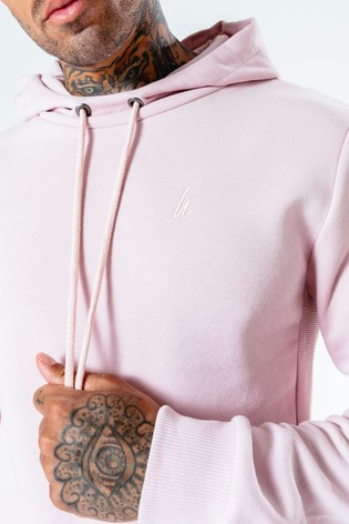 Hype. Mens Pink Dalston Pullover Hoodie