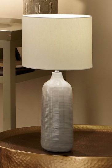 Venus Blue/Grey Ombre Ceramic Table Lamp by Pacific