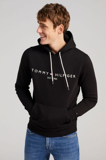 Tommy Hilfiger Black Core Logo Hoodie