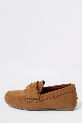 River Island Brown Light Velcro Loafers