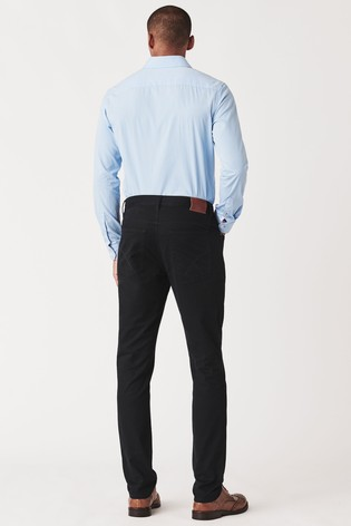 Crew Clothing Company Blue Spencer Slim 5 Pocket Trousers