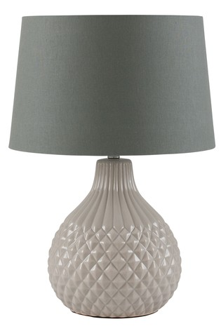 Rhea Grey Geo Ceramic Table Lamp by Pacific
