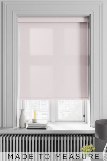 Asher Rose Pink Made To Measure Light Filtering Roller Blind