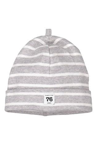Polarn O. Pyret Grey GOTS Organic Striped Hat