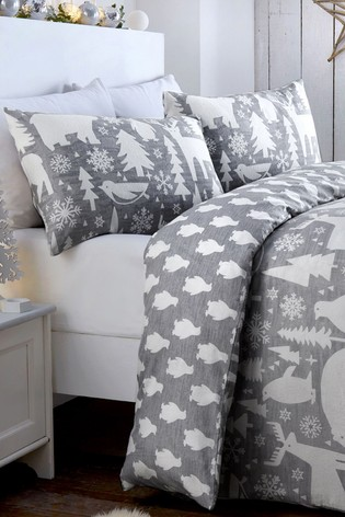 Arctic Animals Reversible Duvet Cover and Pillowcase Set by Fusion
