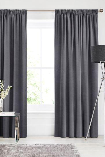 Soho Charcoal Black Made To Measure Curtains
