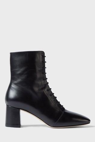 Hobbs Black Imogen Lace Ankle Boots