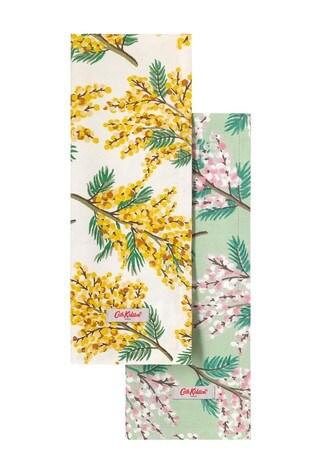 Set of 2 Cath Kidston® Mimosa Flower Tea Towels