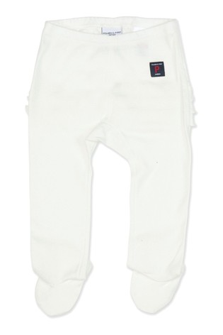 Polarn O. Pyret White Organic Cotton Frilly Tights
