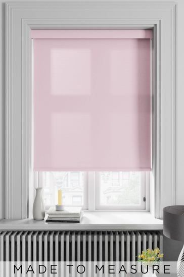 Asher Pink Made To Measure Light Filtering Roller Blind